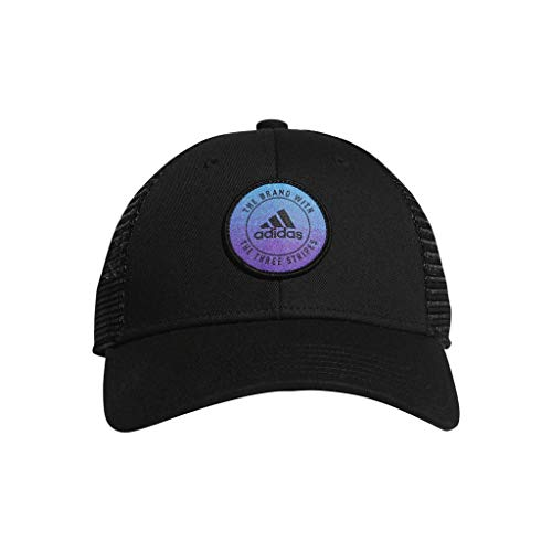 adidas Women's Notion Structured Adjustable Cap, Black/Active Purple/Shock Cyan, One Size
