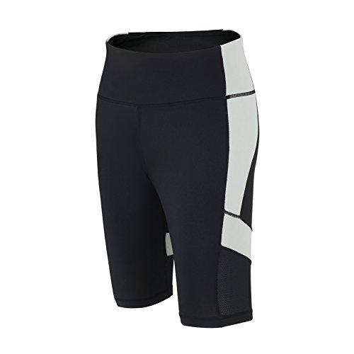 Pantalon Court de fitness Red decoct Short de sport/course/fonction Pantalon/Pantalon de sport/Yoga/Taille Haute/réflecteurs/Noir/Gris