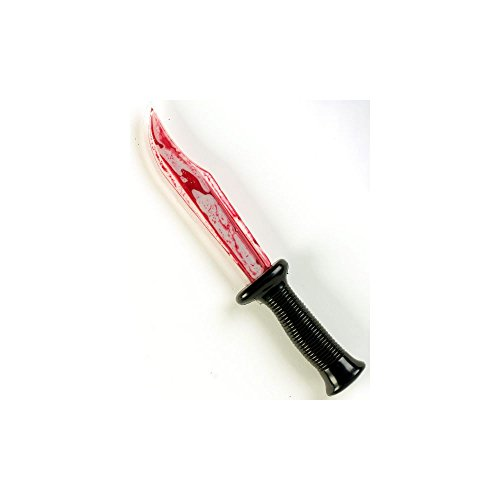 SCRE4M Ghost Face Psycho Killer Bloody Blade Toy Knife Costume Accessory]()