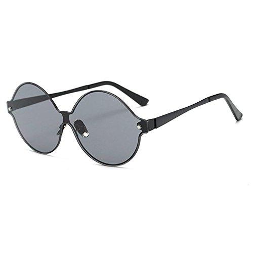 Aoligei Film de couleur métal big-shot de la Dame de lunettes de soleil lunettes de soleil NvmqV7MY