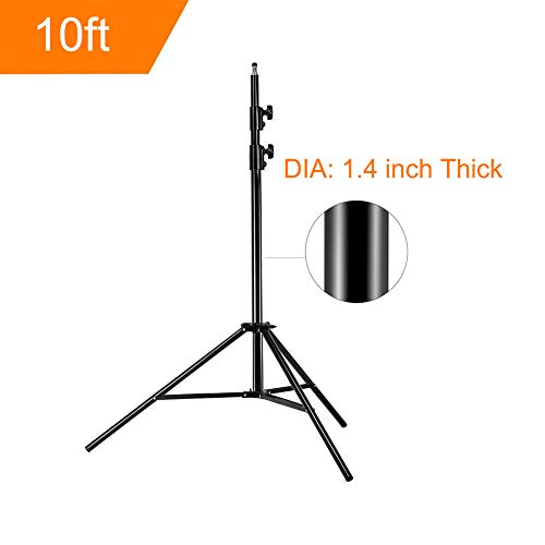 [Upgrade] MOUNTDOG 10ft/300CM Photographic Light Stand Portable for Relfectors Softboxes Lights Umbrellas Monolight Photography Equipment Heavy Duty Alluminum Alloy - 10ft X1