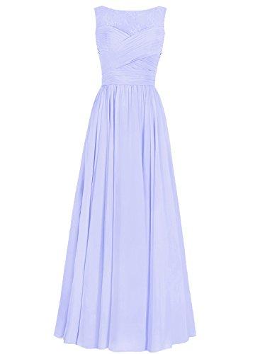 Ballkleider Chiffon Hochzeitskleider Brautjungfernkleid Abendkleider Lavendel A Festkleider Lang Linie 4w11qCU