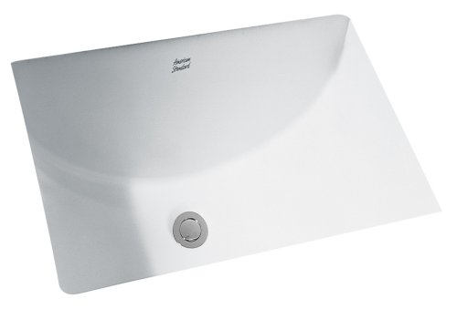American Standard 618000.020 Studio Ceramic undermount Rectangular Bathroom sink, 23.63'' L x 16.63'' W x 8.25'' H, White American Standard Undermount Sink