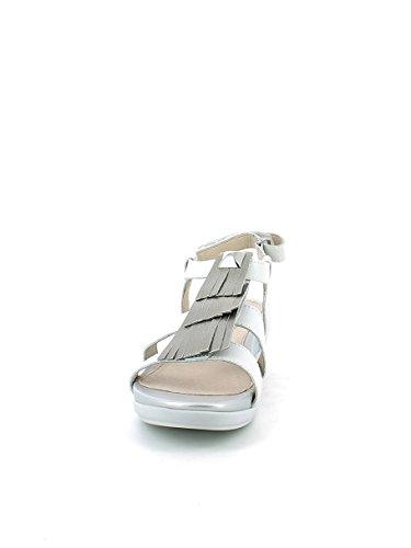 Stonefly Sandalo Con Frange Bianco Argento 1v014