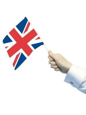 flagstobuy–Petit agitant drapeaux Union Jack britannique avec bâtonnets