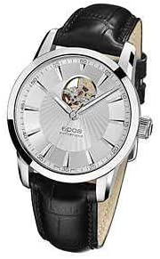 [エポス] メンズ 腕時計 ウォッチ 自動き SOPHISTIQUEE OPEN HEART ソフィスティック オープンハート 3423OHSL 革ベルト 銀 シルバー