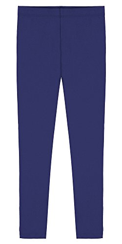 Popular Little Girl's Cotton Ankle Length Leggings - Royal Blue - 4T Cotton Stretch Ankle Length Pants