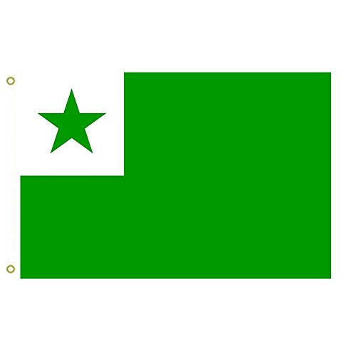 Large Flag Neutral international language Esperanto and the