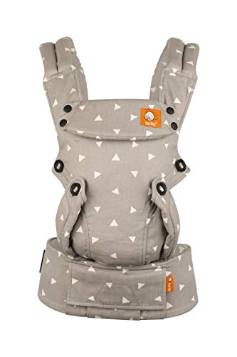 Baby Tula Explore Baby Carrier 7 - 45 lb, Adjustable Newborn to Toddler Carrier, Multiple Ergonomic Positions, Front and Back Carry, Easy-to-Use, Lightweight - Sleepy Dust, Gray with White Triangles