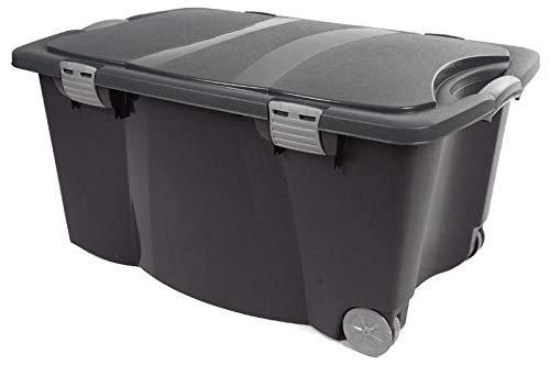 Jumbo Allzweckbox 120 Liter mit Rollen - auch als Gartenbox und Spielzeugbox nutzbar