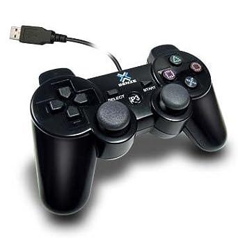 Senze - Mando con cables y vibración para Playstation 3 - Negro
