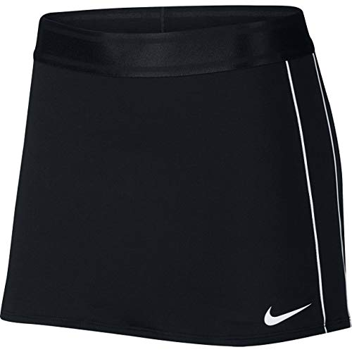 (Nike Women's Court Dry Skirt (Black/White/White/White, Medium))