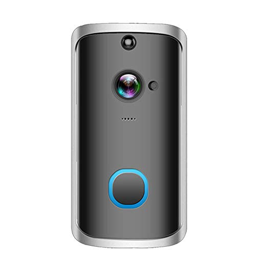 OWSOO Wireless DoorBell WiFi DoorBell Intelligent Video Door Phone Visual Recording Low Power Consumption Remote Home Monitoring Night Vision PIR 720P Secure DoorBell