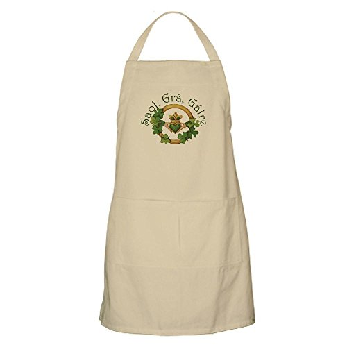 - CafePress Life, Love, Laughter (Irish Proverb) Kitchen Apron with Pockets, Grilling Apron, Baking Apron