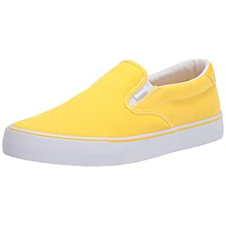 Lugz Women's Clipper Classic Slip-on Fashion Sneaker, Yellow/White, 11
