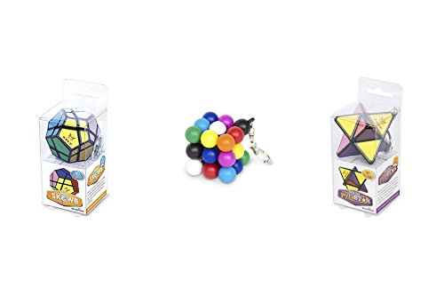 Meffert's Keychain Puzzle - Molecube Mini Color Sudoku - Mini Skewb - Mini Pryastar (Keychain Game Sudoku)