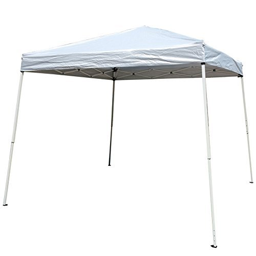 Easy Pop Up Instant Event Canopy Gazebo Party Tent Folding Portable Shelter Slant Leg 8.2' x 8.2' Blue with Carrying Bag