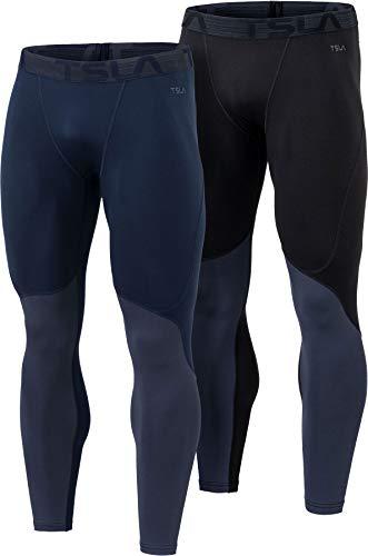TSLA Men's Thermal Compression Pants, Athletic