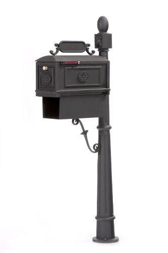 Contemporary Decorative Cast Aluminum Better Box Mailbox with Paper Box Black by Better Box Mailboxes