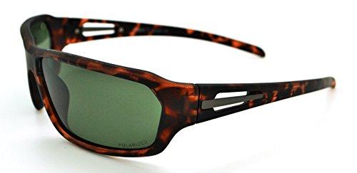 Vertx polarisés léger durable pour homme et pour femme Athletic Sport Wrap Lunettes de soleil Cyclisme Course à Pied W/étui microfibre gratuit Brown Tortoise Frame - Smoke Lens
