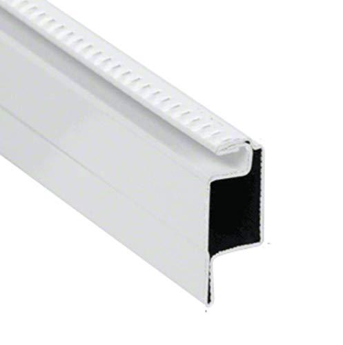 """CRL WSFL7W White 5/16"""" Roll Formed Aluminum Standard Lip Screen Frame - 144"""""""