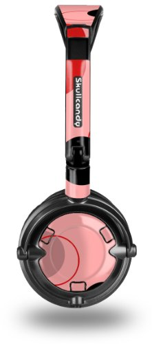 Lots of Dots Red on Pink Decal Style Skin fits Skullcandy Lowrider Headphones (HEADPHONES SOLD SEPARATELY)