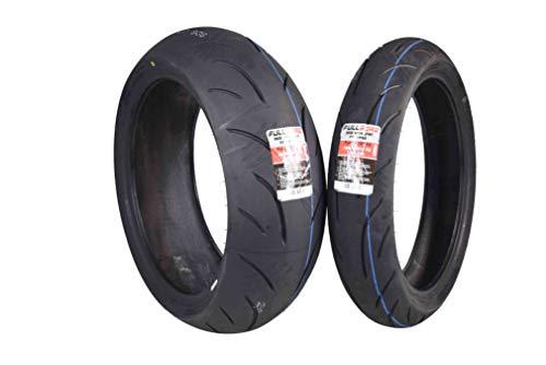 Full Bore Super Bike F2 Tire set (1 Front 120/70ZR17 & 1 Rear 200/50ZR17) Pair Tires 120/70-17 200/50-17