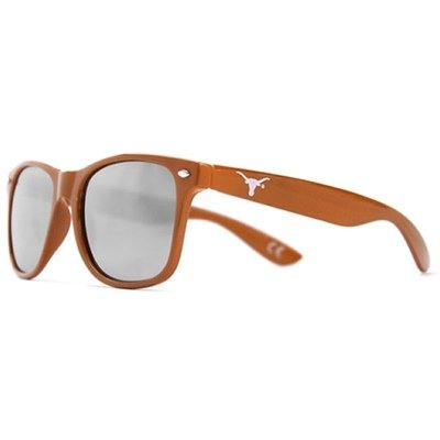 Society43 NCAA Texas Longhorns TEX-1 Burnt Orange Frame, Silver Lens Sunglasses, One Size, Burnt by Society43