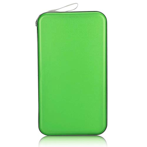 - Faylapa 80 Capacity DVD/CD Case Heavy Duty Hard Plastic Protective CD/VCD/DVD(Green)