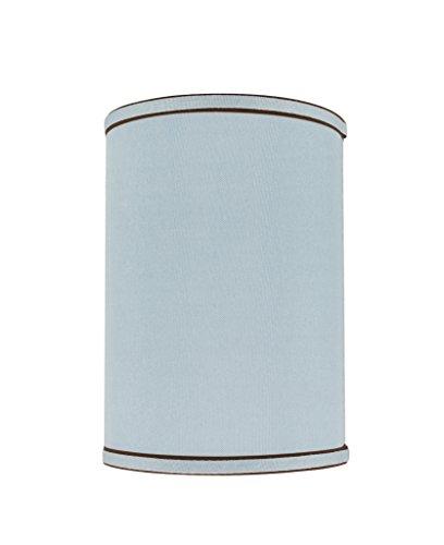Aspen Creative 31019 Transitional Hardback Drum (Cylinder) Shape Spider Construction Lamp Shade in Light Blue, 8