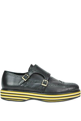PALOMA BARCELÓ Femme MCGLCAB02050I Noir Cuir Chaussures À Boucles