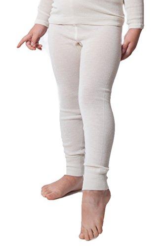 Little Girls Organic Wool-Silk Long-Underwear Pants