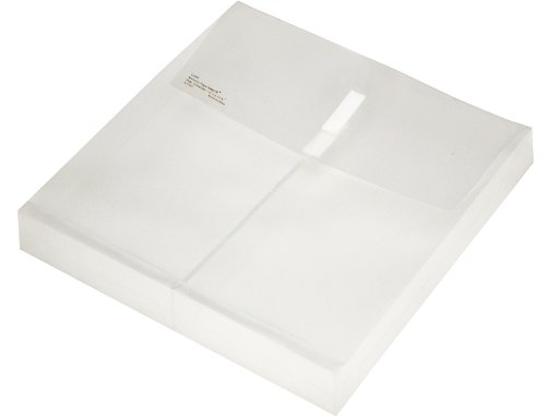 Lion Vel-Close-R Clear Poly envelopes with Gusset, 12.5 x 12.5 Inches, 6 EA/Pack, 1 Pack (22060-CR)