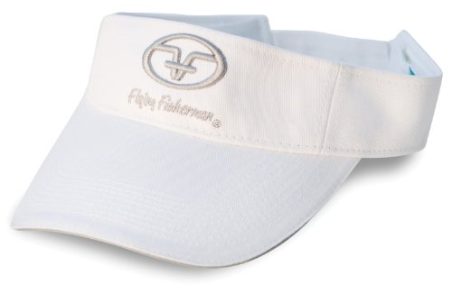 Flying Fisherman Cap (Flying Fisherman Logo Visor (White, One Size))