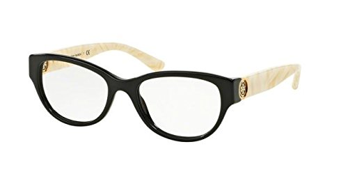 Tory Burch TY2060 Eyeglass Frames 3148-50 - Black/ivory Marble - Burch Tory Glasses