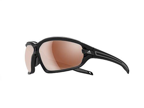 adidas Evil Eye Evo Pro S A194 6055 Polarized Rectangular Sunglasses, Black Matte & Grey, 67 mm