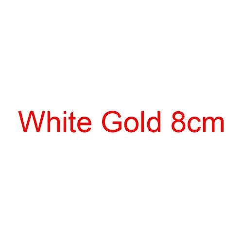 Boda Alto Altos Zapatos del Pequeño Oro Brillo Estilete Mujeres VIVIOO 8cm Zapatos Tacón De Grande White del Bombas Gold Mujeres De Plata Tacones De Las O11q5Yzw