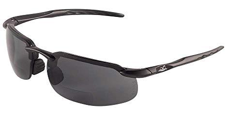 Pro Glasses Smoke Lens - Bullhead Safety Eyewear BH106325 Swordfish Readers, Matte Black Frame, Smoke Lens, 2.5 Diopter (1 Pair)