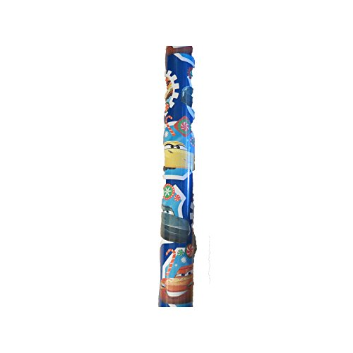 Disney Large 70sq ft Roll Holiday Christmas Gift Wrapping Paper (Cars Blue)]()