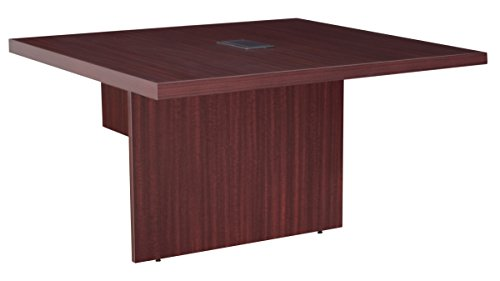Mahogany Modular Conference Table - Regency LCTRT48EXTMH with with Power Data Grommets Legacy Modular Conference Table Extension, 48