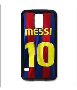 Samsung Galaxy S5 SV Black Rubber Silicone Case - Lionel Messi Barcelona Jersey #10 Soccer Futbol futsal FCB