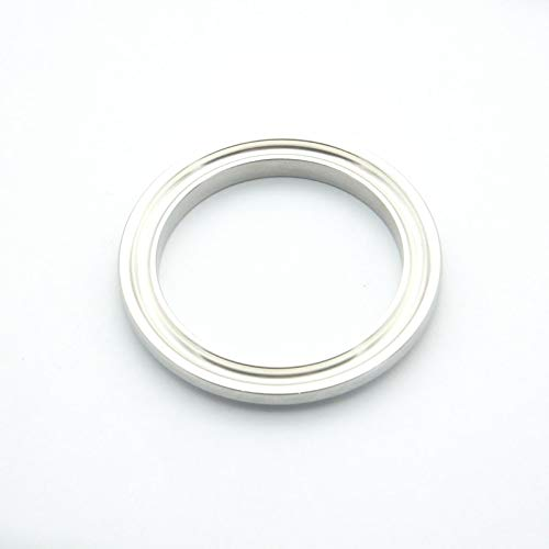 Xucus 38mm ID x 50.5mm Ferrule OD 304 Stainless Steel Sanitary Open End Cap Without Groove for Homebrew Fit 1.5 Tri Clamp
