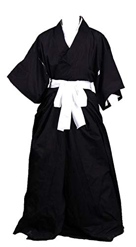 Chong Seng CHIUS Cosplay Costume Black Male Kimono Kurosaki Ichigo Shinigami Version 1 -