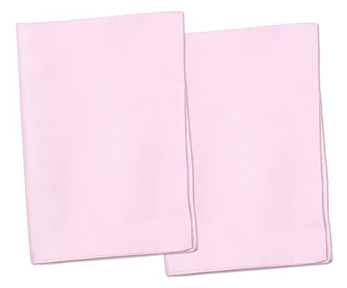 2-Pink-Toddler-Pillowcases-Envelope-Style-For-Pillows-Sized-13x18-and-14x19-100-Cotton-With-Soft-Sateen-Weave-Machine-Washable