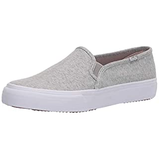 Keds Women's Double Decker Heathered Woven Sneaker, Light Grey, 8 M US