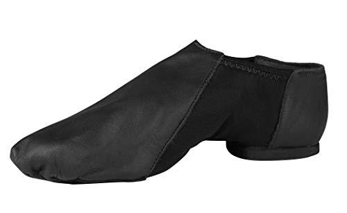 So Danca Slip On Leather Jazz Shoes Black ()