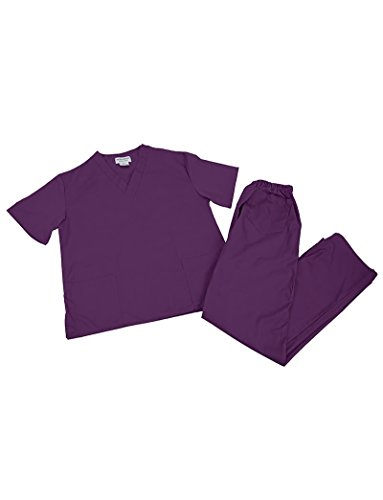 Women's Scrub Set (Assorted Colors, XXS-5X) Medical Scrub Top and Pant (Plus -