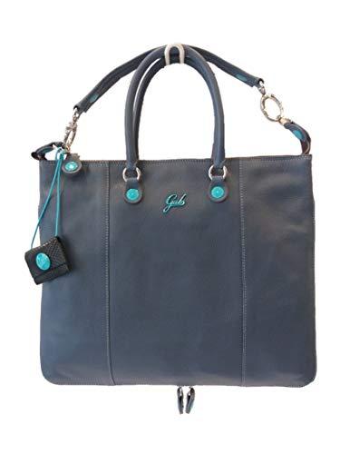 Profondità Mujer Cm 31 Max 38 Azul Marino De Altezza Bolso Para Asas Cuero 20 Larghezza Gabs pnxTzOwqXv