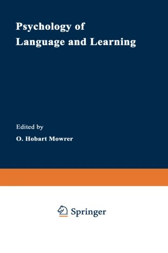 Psychology of Language and Learning (Cognition and Language: A Series in Psycholinguistics)