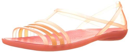 Women's Isabella UK Crocs W Coral 5 Black Sandal Flat 4 pgwqxBd